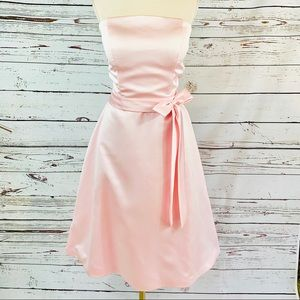 Light In The Box soft pink strapless formal bow